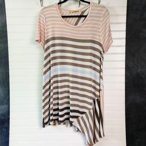 LITTLE YELLOW BUTTON   Striped T-shirt Dress Sz XL